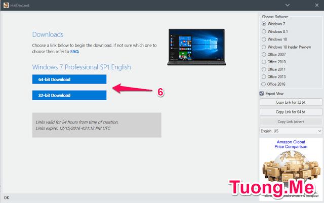 Hướng dẫn cách tải Windows 10, 8.1, 7 chính thức từ Microsoft
