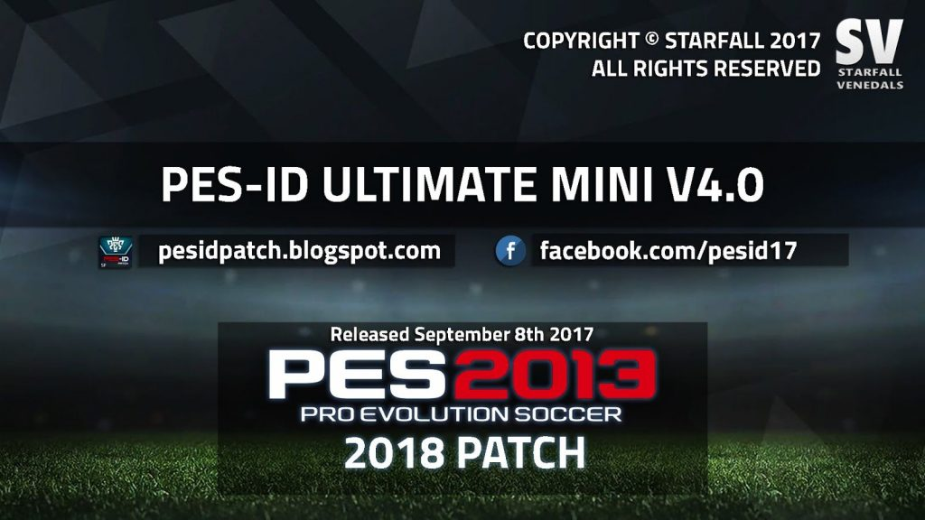 PES-ID Ultimate Patch 2013 Mini 4.0 - Patch PES 2013 mới nhất 2017