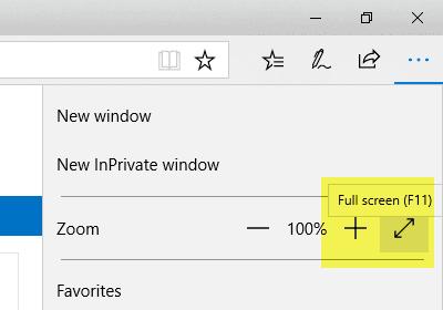 Duyệt web ở chế độ toàn màn hình Full Screen trên Chrome, Cốc Cốc, Firefox, IE, Microsoft Edge