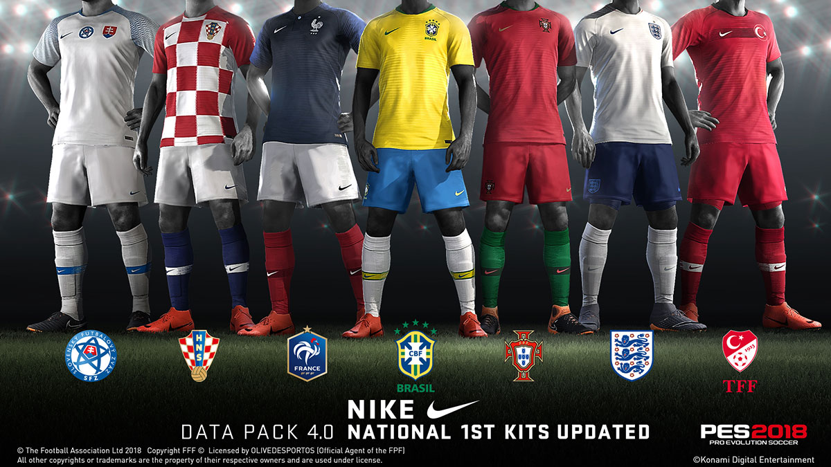 PES 2018 Official Update Patch 1.05 + Data Pack 4 (DLC 4.0) CPY Version