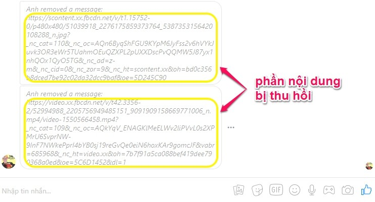 Cách xem tin nhắn đã thu hồi trên Facebook Messenger
