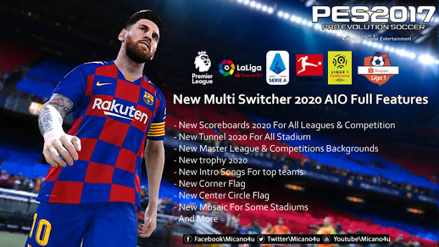 PES 2017 New Multi Switcher 2020 AIO - Switcher cho PES 2017