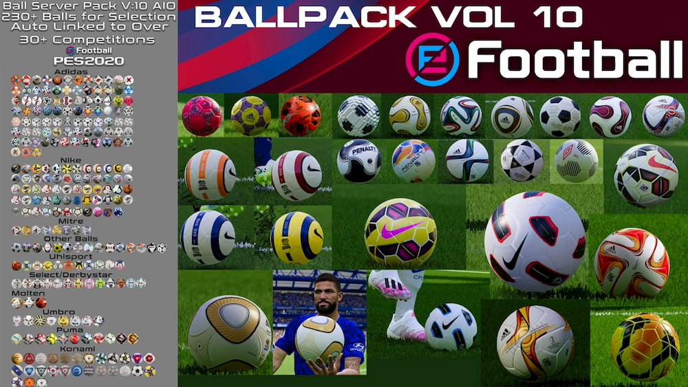 Download PES 2020 Ball Server Pack V10 AIO by Hawke