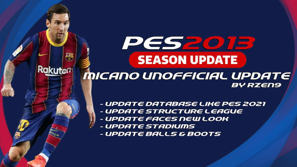 Download PES 2013 Micano Patch Unofficial Update Season 2021